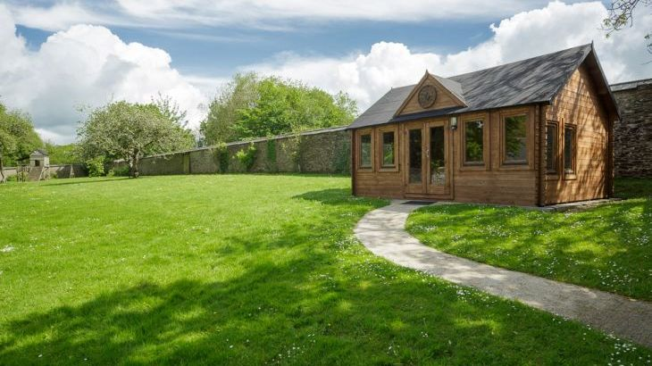 Relax in the walled garden with childrens play area and games pavilion