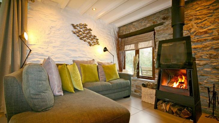 Living Room with Glass Fronted Log Burner