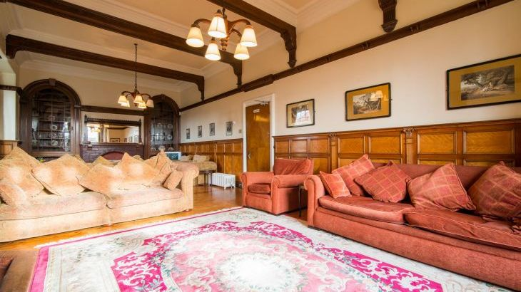 The massive sitting room is 11m x 5m