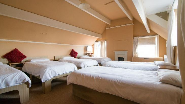 The Family bedroom has 6 single beds