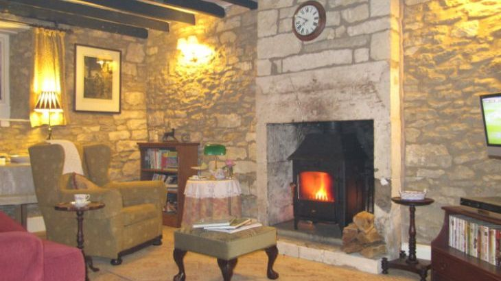 Lounge with warming woodburner