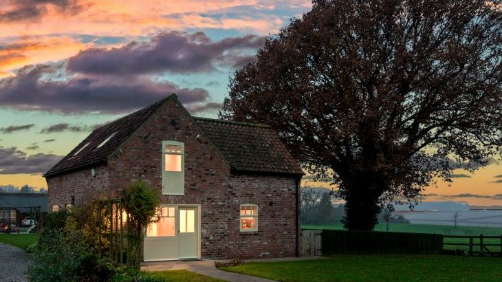 Forge cottage at dusk
