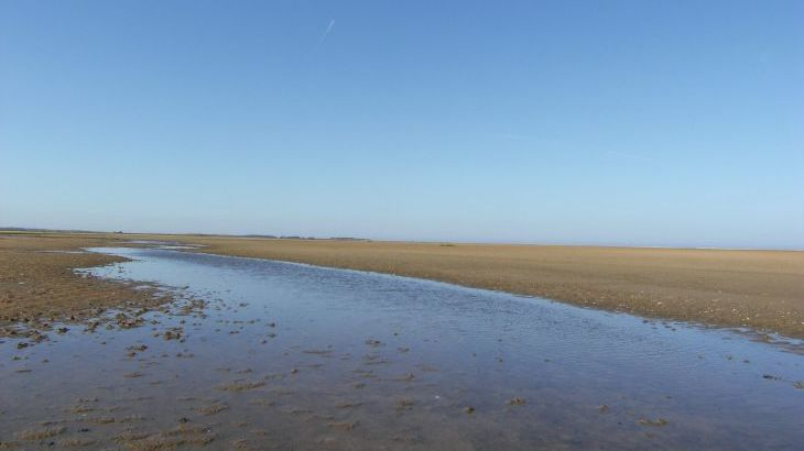 Secluded part of north norfolk coast