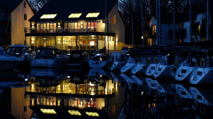 Just a short walk from the Loft - beautiful marina with contemporary bar & restaurant.