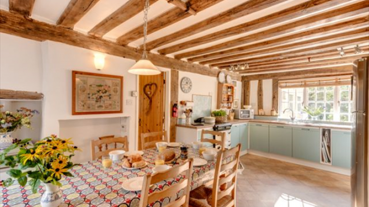 Beautiful country style kitchen and dining area