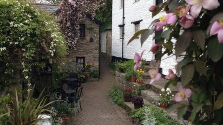 The working mill and tearoom at Hele, 3 mins walk
