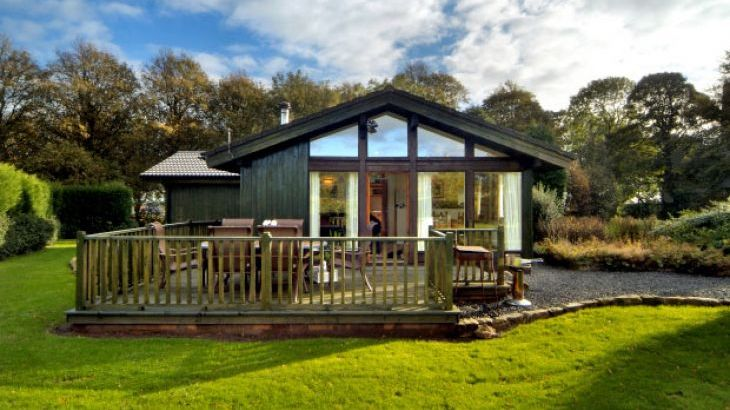 luxury pine lodge holiday Alnwick