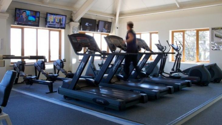 Work out at the on site gym at Highbullen Country Estate