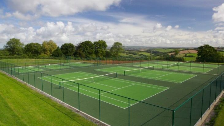 All weather tennis courts on site