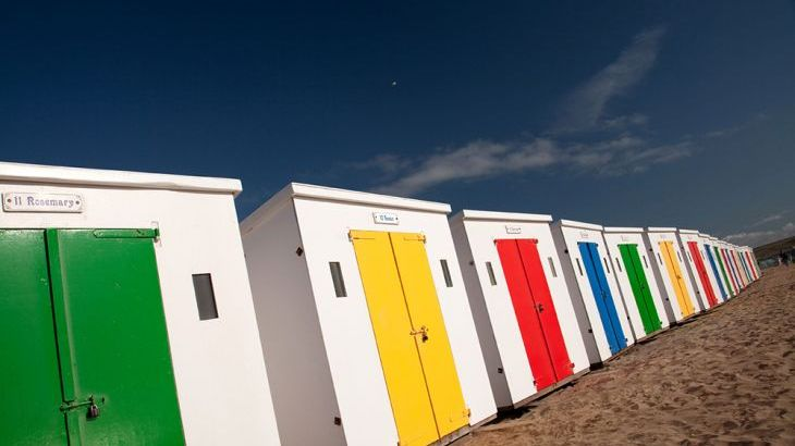 Beach huts at Saunton Sands