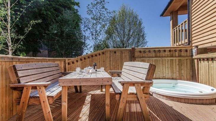 Decking And Hot Tub