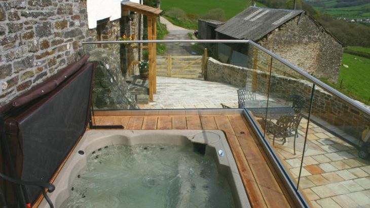 Inviting Private Hot Tub
