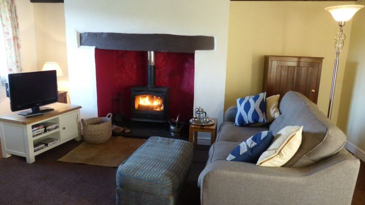 Cosy attractive lounge of this 18 century welsh longhouse
