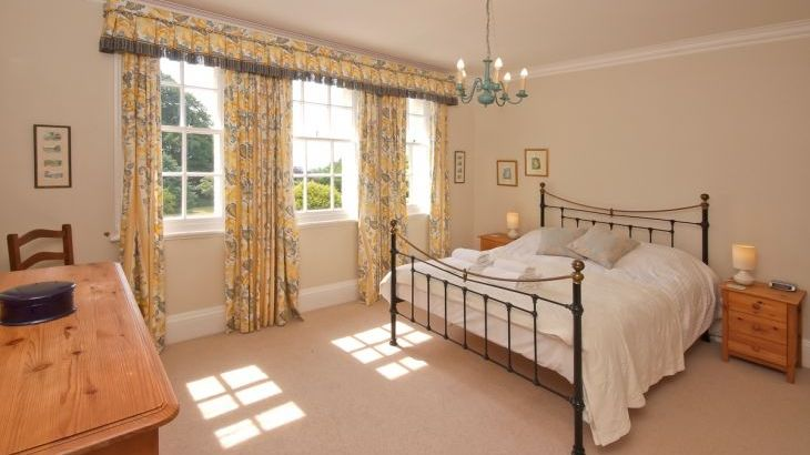 King sized bedroom at Ludlow Manor House