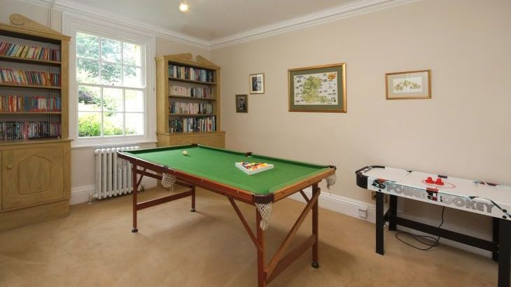 Games room at Ludlow Manor House