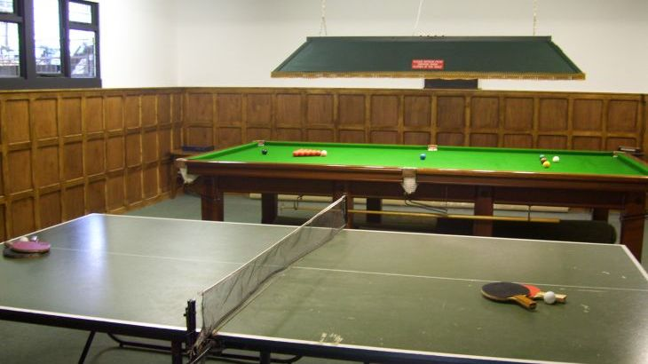 Shared Games room with snooker and table tennis