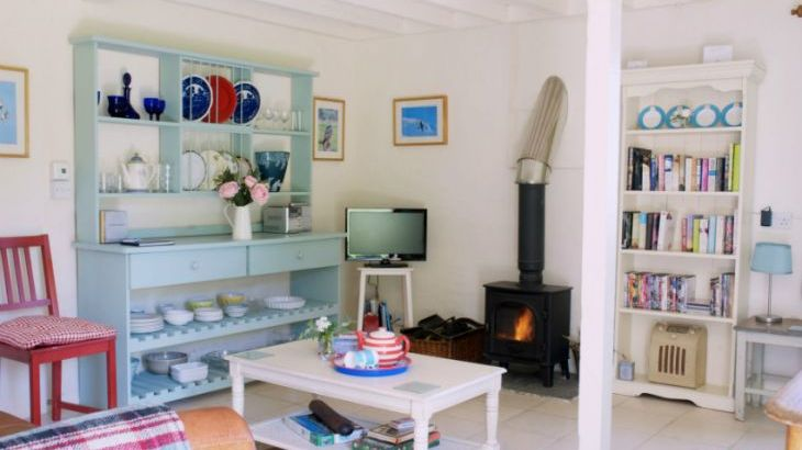 Ian's Cottage Lounge with woodburner