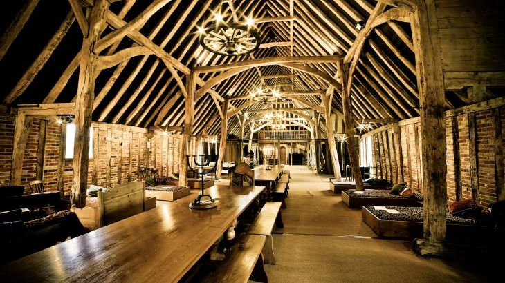Tudor barn interior