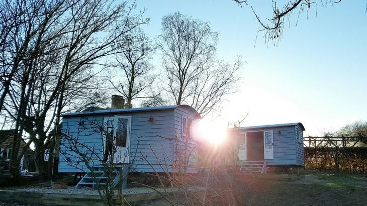 Shepherd Hut accommodation group stays sussex