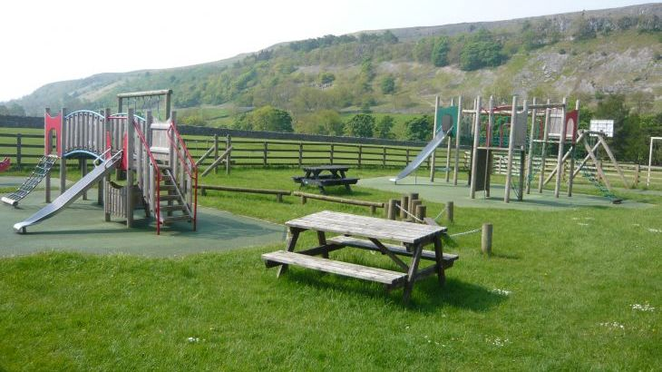 Playground a short walk from the house