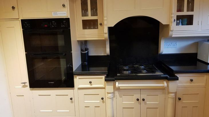 Main kitchen features double oven/grill and gas hob