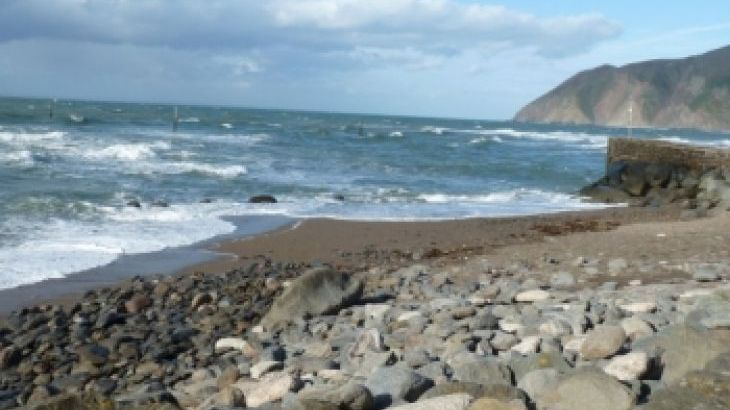 The beach at Lynmouth